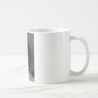 Mi retrato oscuro del ~ de la señora 01 taza básica blanca