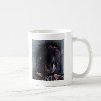 Mi retrato oscuro del ~ de la señora 02 taza básica blanca