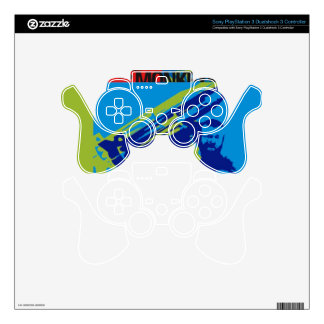 Mi$ Retro-Getcho Playstation Controll PS3 Controller Decal
