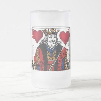 Mi rey de la taza esmaltada helada corazones