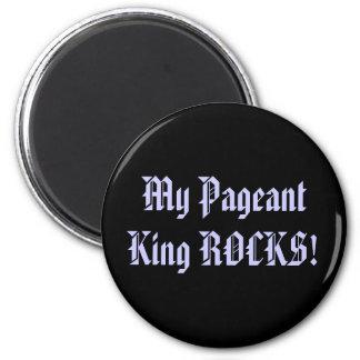 ¡Mi rey ROCKS del desfile! Imán Redondo 5 Cm