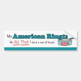 ¡Mi Ringtail americano es todo el eso! Gatito dive Pegatina Para Auto