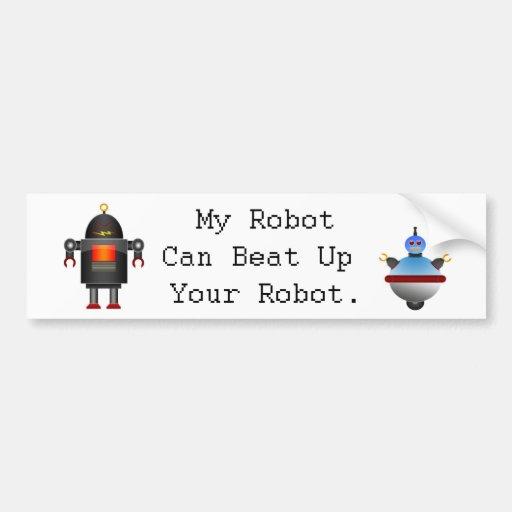 Mi robot puede batir para arriba su robot etiqueta de parachoque
