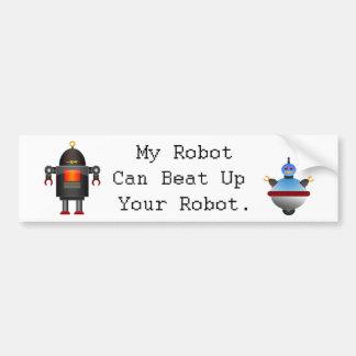 Mi robot puede batir para arriba su robot pegatina para auto