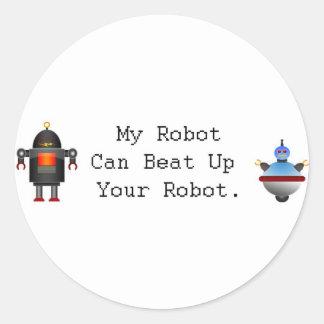 Mi robot puede batir para arriba su robot pegatina redonda