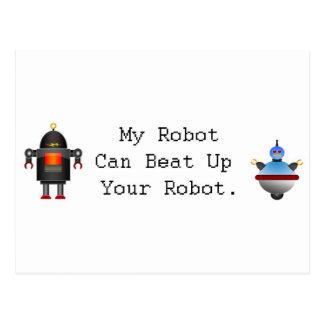Mi robot puede batir para arriba su robot tarjeta postal