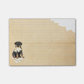Mi Rottweiler comió mi preparación Post-it® Notas