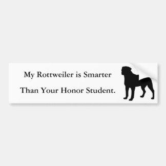 Mi Rottweiler es más elegante Pegatina Para Auto