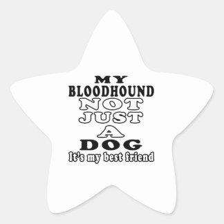Mi sabueso no apenas un perro es mi mejor amigo pegatina forma de estrella
