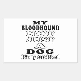 Mi sabueso no apenas un perro es mi mejor amigo rectangular altavoces