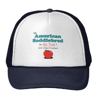 ¡Mi Saddlebred americano es todo el eso! Caballo d Gorro De Camionero