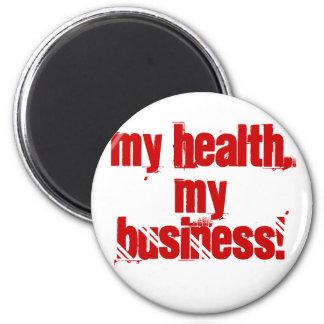 ¡Mi salud, mi negocio! Imán Redondo 5 Cm