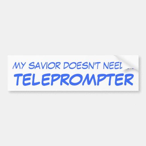 Mi salvador no necesita un TABLERO TELEVISIVO Etiqueta De Parachoque