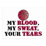 Mi sangre, mi sudor, sus rasgones - baloncesto postal
