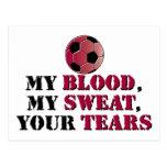 Mi sangre, mi sudor, sus rasgones - fútbol postal