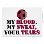 Mi sangre, mi sudor, sus rasgones - fútbol tarjetón