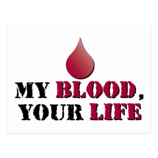 Mi sangre - su vida tarjetas postales