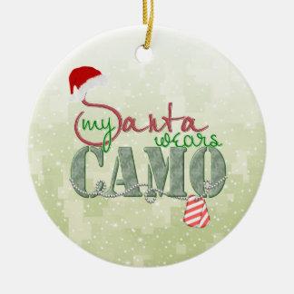 Mi Santa lleva el ornamento de Camo Ornato