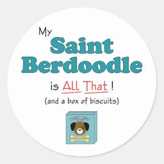 ¡Mi santo Berdoodle es todo el eso Pegatinas Redondas