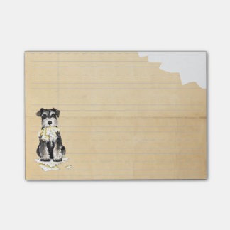 Mi Schnauzer miniatura comió mi preparación Notas Post-it®