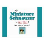 ¡Mi Schnauzer miniatura es todo el eso! Tarjeta Postal