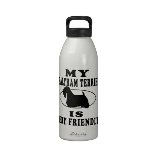 Mi Sealyham Terrier es muy amistoso Botella De Agua