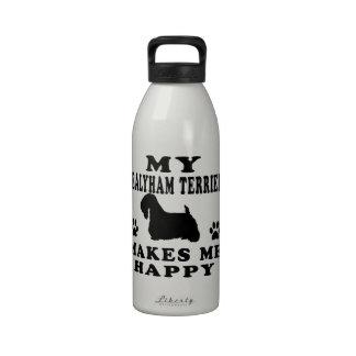 Mi Sealyham Terrier me hace feliz Botella De Agua