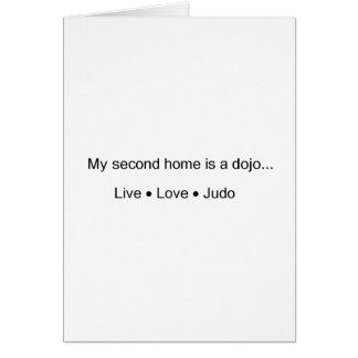 Mi segunda casa es un ir de discotecas tarjeta de felicitación