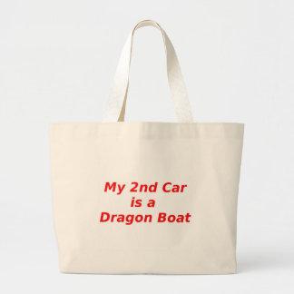 Mi segundo coche es un barco del dragón bolsa tela grande