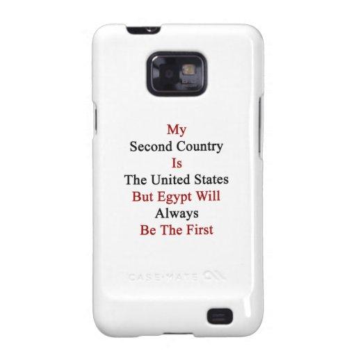 Mi segundo país es los Estados Unidos pero Egipto  Galaxy S2 Funda