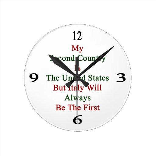 Mi segundo país es los Estados Unidos pero Italia  Relojes