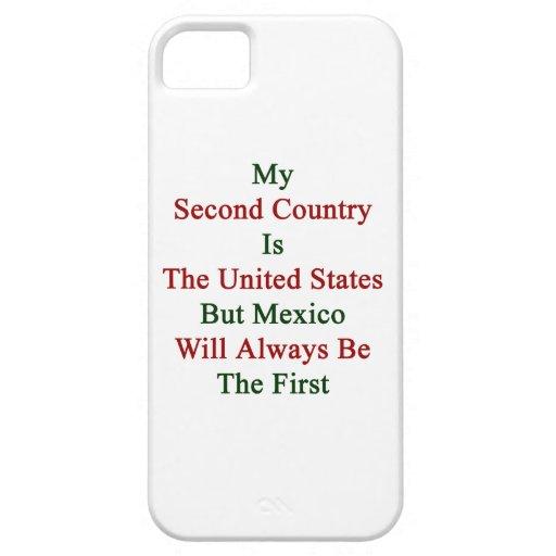 Mi segundo país es los Estados Unidos pero México iPhone 5 Cárcasa