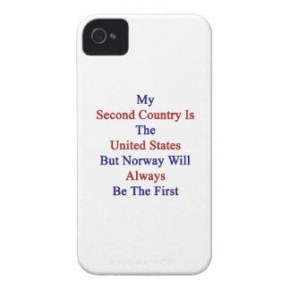 Mi segundo país es los Estados Unidos pero Noruega iPhone 4 Protectores