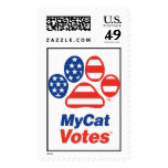 Mi sello de los E.E.U.U. de los votos del gato