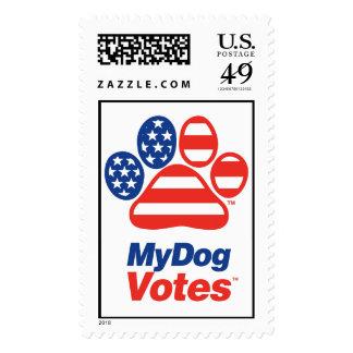 Mi sello de los E E U U de los votos del perro
