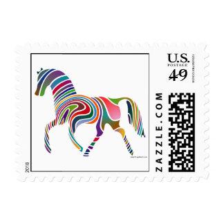 Mi sello de los E.E.U.U. del caballo del arco iris