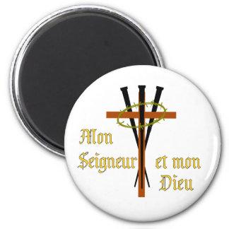 Mi señor y mi dios imán redondo 5 cm