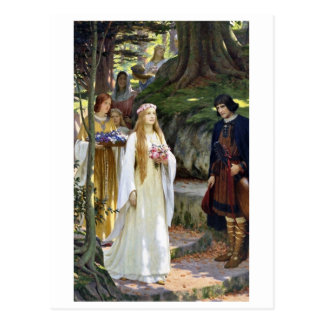 Mi señora justa, vintage 1914 del arte de Edmund Tarjeta Postal