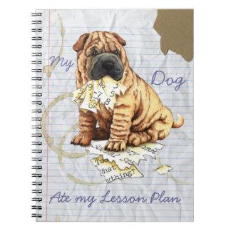Mi Shar-Pei chino comió mi plan de lección Spiral Notebooks
