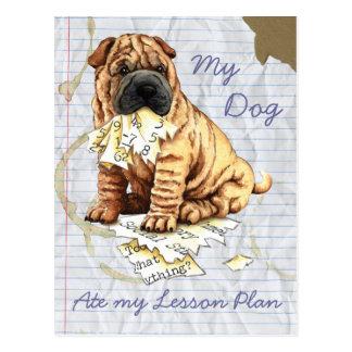Mi Shar-Pei chino comió mi plan de lección Postales