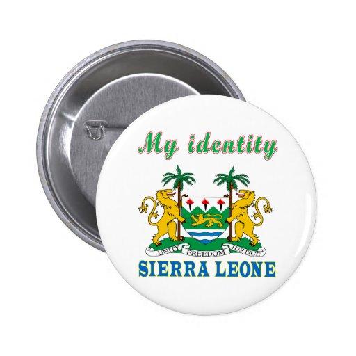 Mi Sierra Leone de la identidad Pin Redondo 5 Cm