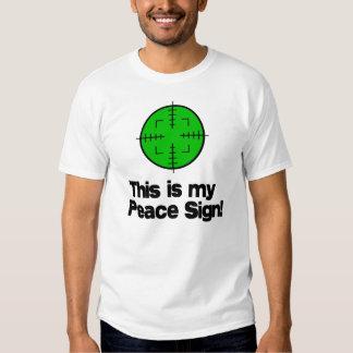 ¡Mi signo de la paz! Poleras