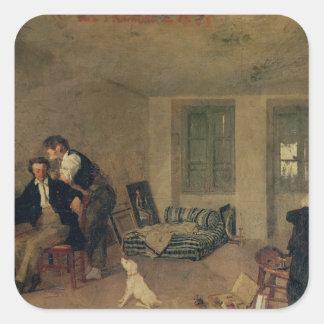 Mi sitio en 1825 calcomania cuadrada personalizada