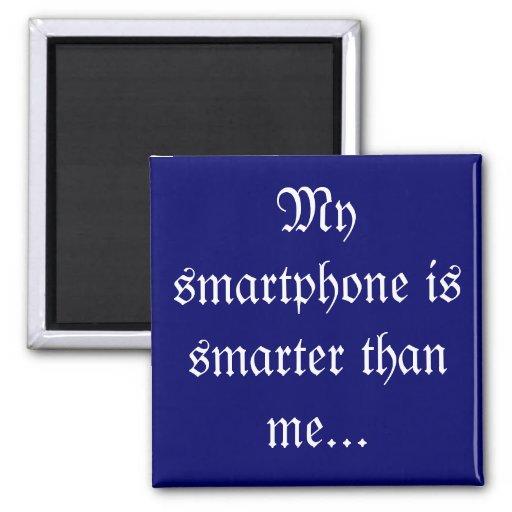 Mi smartphone es más elegante - los jubilados iman para frigorífico