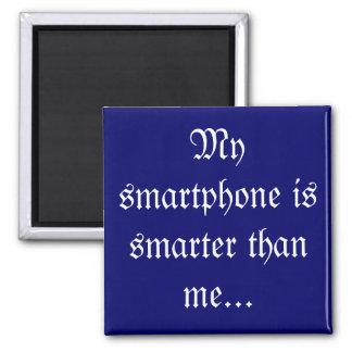 Mi smartphone es más elegante - los jubilados imán cuadrado