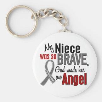 Mi sobrina es un cáncer de cerebro del ángel 1 llavero