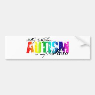 Mi sobrino mi héroe - autismo etiqueta de parachoque