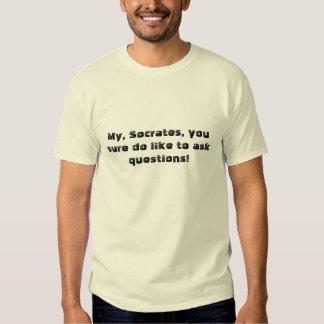 ¡Mi, Sócrates, usted seguro tiene gusto de hacer Camisas