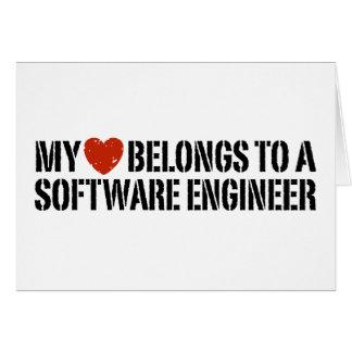 Mi Software Engineer del corazón Tarjeta De Felicitación
