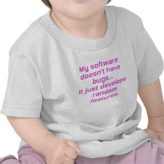 Mi software no tiene insectos camiseta